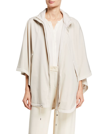 Image 1 of 4: Loro Piana Vail Reversible Tech-Fabric & Cashmere Cape