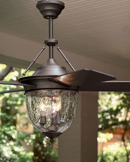 Dark aged bronze outdoor ceiling fan with lantern neiman marcus aloadofball