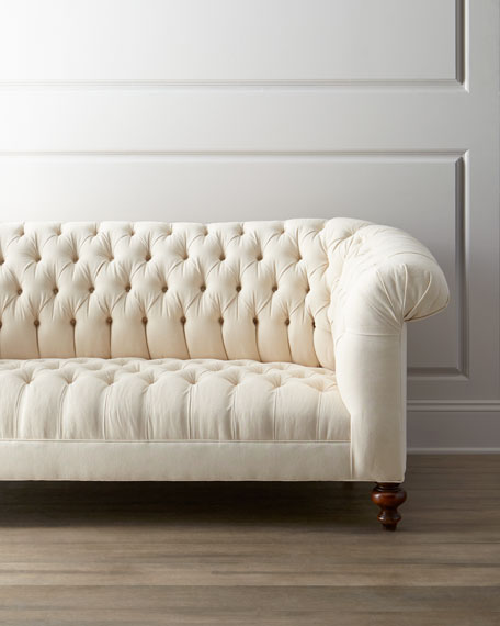 Ellsworth Neutral Tufted Sofa