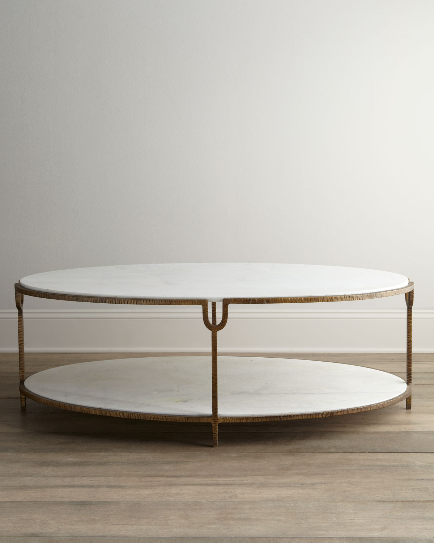 Global Views Olivia Marble Top Coffee Table Neiman Marcus