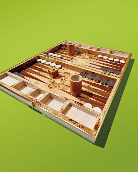 Chocolate Shagreen Backgammon Set