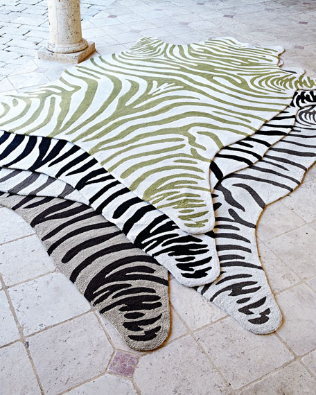 Maya Zebra Indoor/Outdoor Rug, 5' x 8'