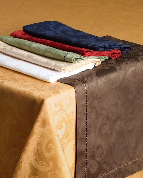 """Plume Jacquard 70"""" x 144"""" Tablecloth"""