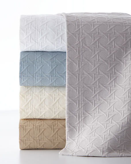 SFERRA Twin Marcus Collection Cane Matelasse Coverlet
