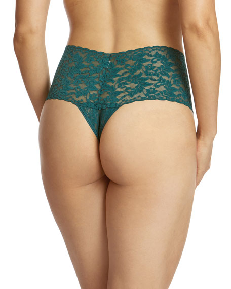 Retro Signature Lace Thong