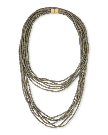 Tea Long Mesh Necklace, 18""