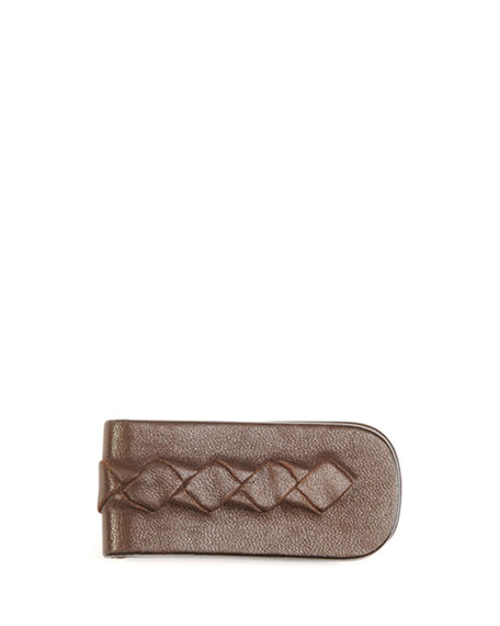 Bottega Veneta Woven Leather Money Clip