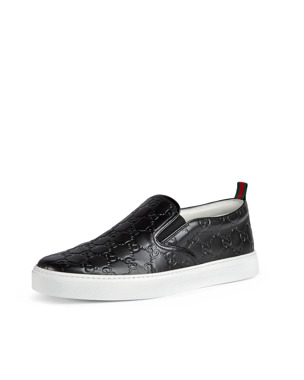 Gucci Dublin Signature Leather Slip-On Sneaker  85fb7b07e3cdb