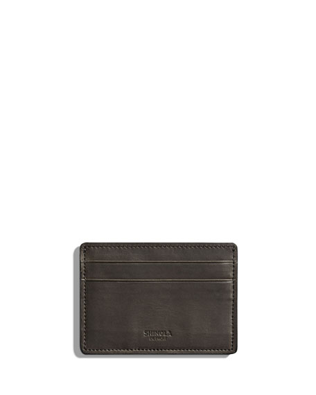 Shinola Cases Men's Six-Pocket Leather Card Case