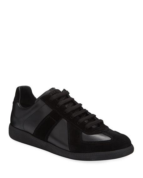 Maison Margiela Replica Men's Leather & Suede Low-Top Sneakers