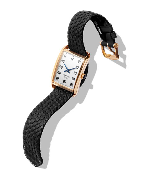 Image 2 of 3: TOM FORD TIMEPIECES 18k Gold Case, White Opaline Dial, Large