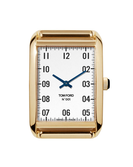 Image 1 of 3: TOM FORD TIMEPIECES 18k Gold Case, White Opaline Dial, Large