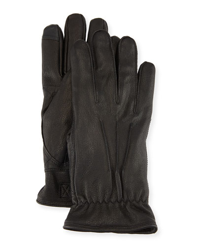 UGG Men's Three-Point Leather Gloves