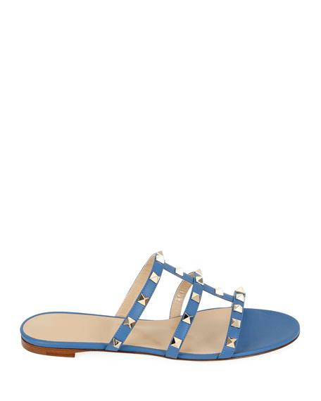 Valentino Garavani Rockstud Caged Flat Slide Sandals