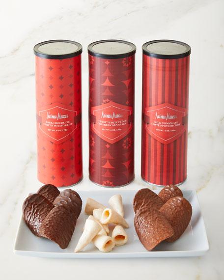Neiman Marcus NM Chocolate-Coated Corn Twists & Potato Crisps