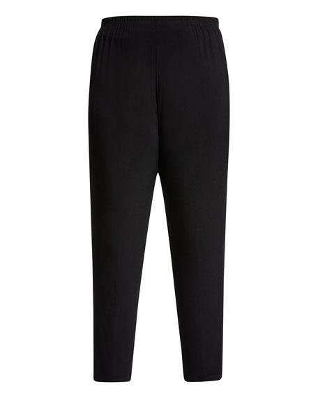 Plus Size Stretch-Knit Slim Pants