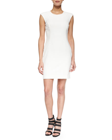 Milly Cap-Sleeve Modern Sheath Dress