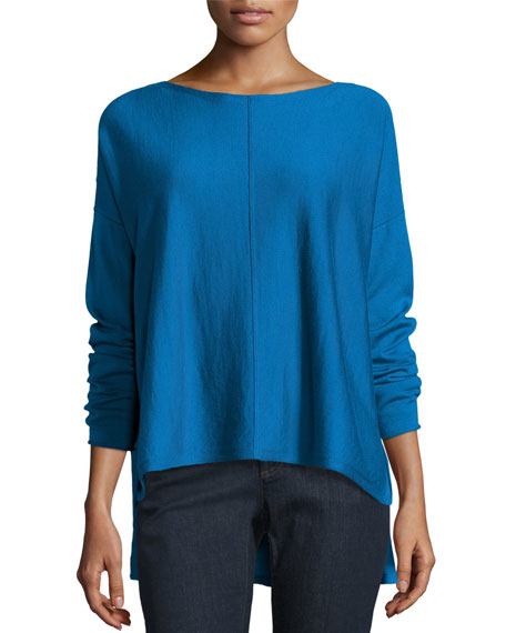 Long-Sleeve Merino Boxy Sweater