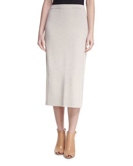 Washable Wool Crepe Pencil Skirt, Petite