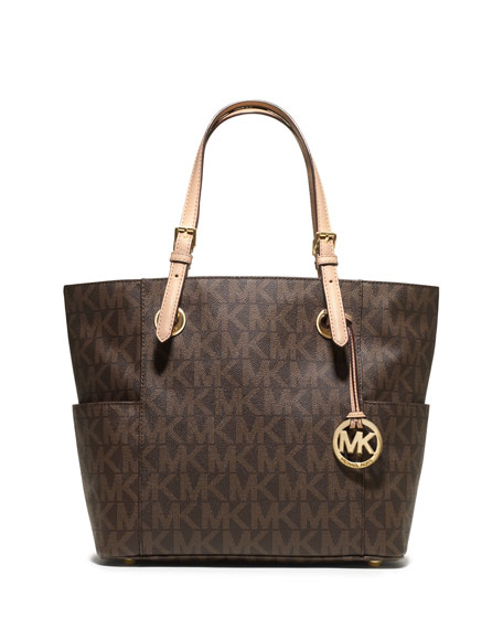 MICHAEL Michael KorsLogo-Print Signature Monogram Tote Bag, Brown