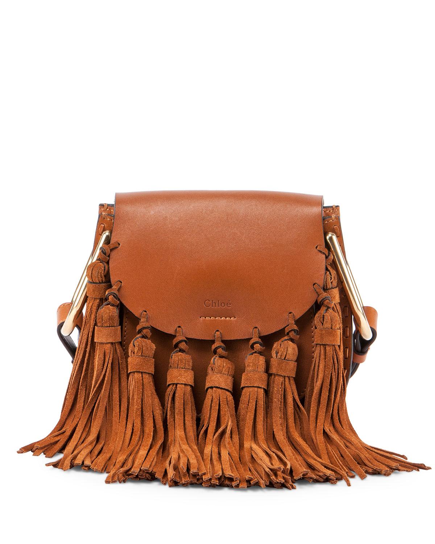 66333143ae Hudson Mini Fringe Shoulder Bag, Caramel