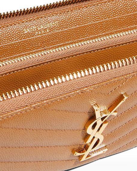 Monogram YSL Matelasse Zip-Around Wallet
