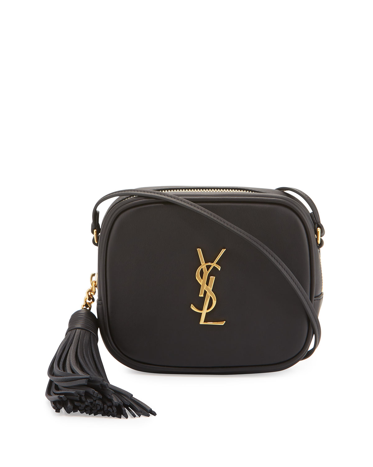 045382d7 Monogram YSL Blogger Crossbody Bag, Black