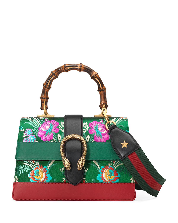 6e415e89e103 Gucci Dionysus Medium Jacquard Top-Handle Satchel Bag | Neiman Marcus