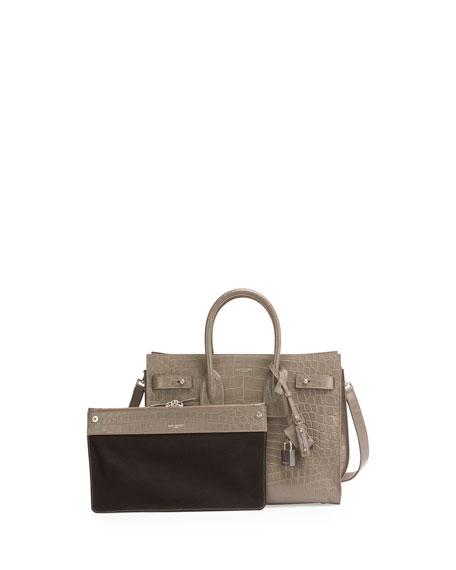 Sac de Jour Small Crocodile-Embossed Satchel Bag