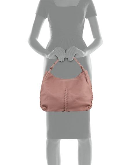 Medium Deerskin Leather Hobo Bag