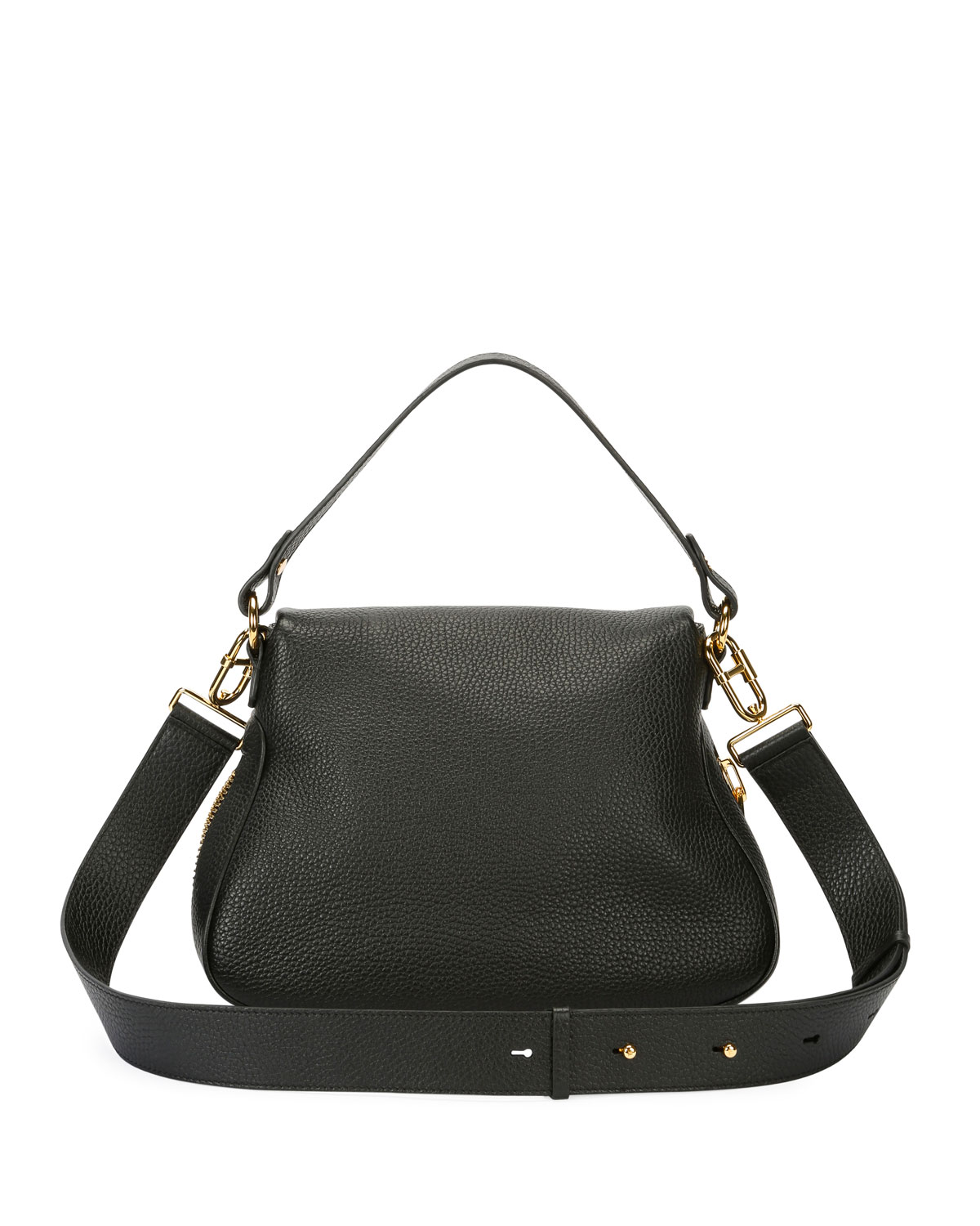 f00dd469b TOM FORD Jennifer Medium Grained Leather Saddle Bag | Neiman Marcus