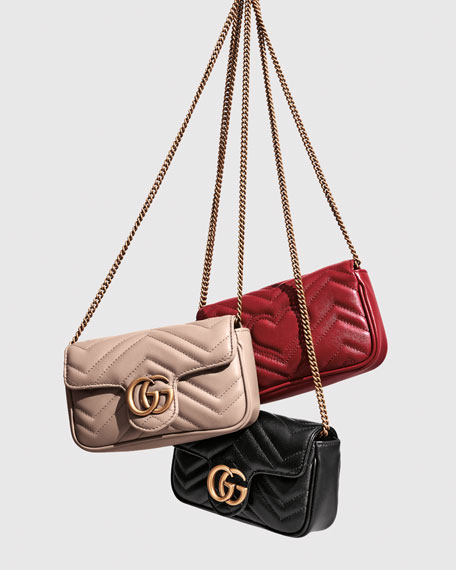 Image 2 of 4: Gucci GG Marmont Matelasse Leather Super Mini Bag