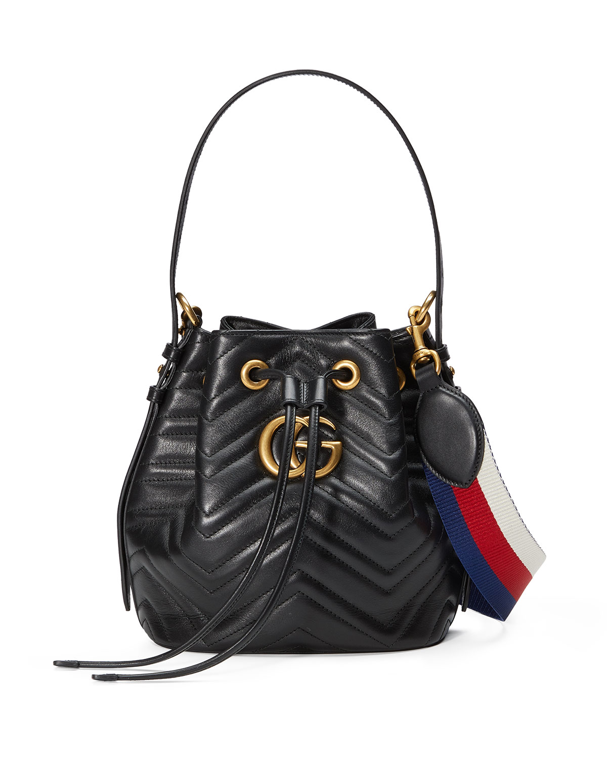 de077eafb Gucci GG Marmont Quilted Leather Bucket Bag | Neiman Marcus