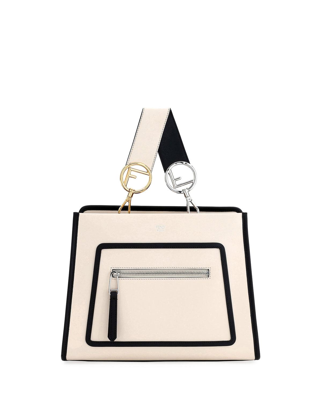 aa8645d8a Fendi Runaway Small Two-Tone Leather Tote Bag | Neiman Marcus