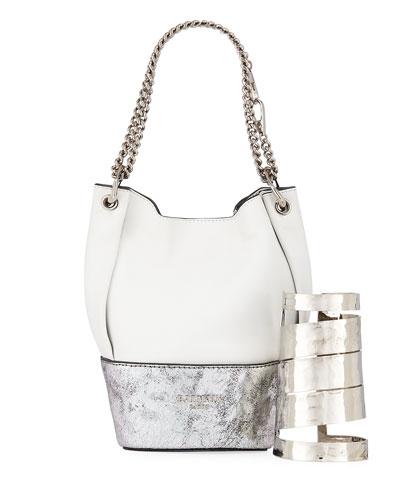 Polygon Bracelet & Bucket Bag