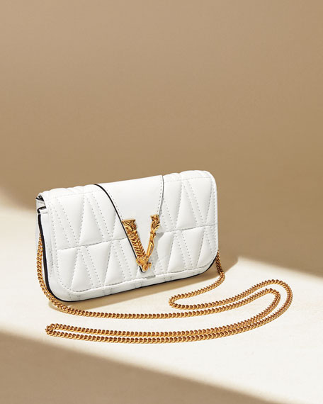 Image 2 of 5: Versace Quilted Napa Shoulder Bag