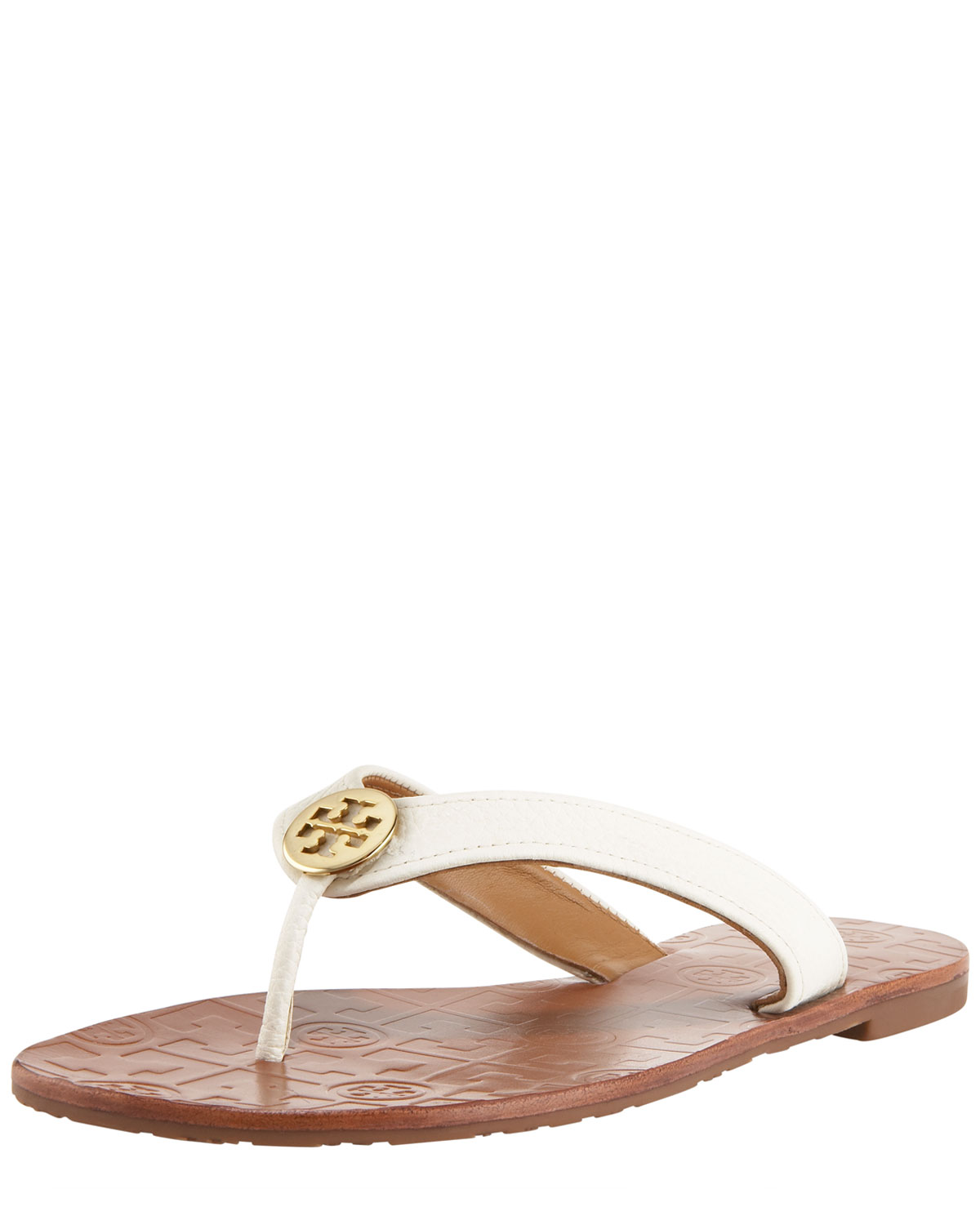 6e3d2cc081e71 Tory Burch Thora Leather Thong Sandal