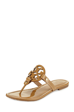 Tory Burch Miller Medallion Patent Leather Flat Thong $198.00