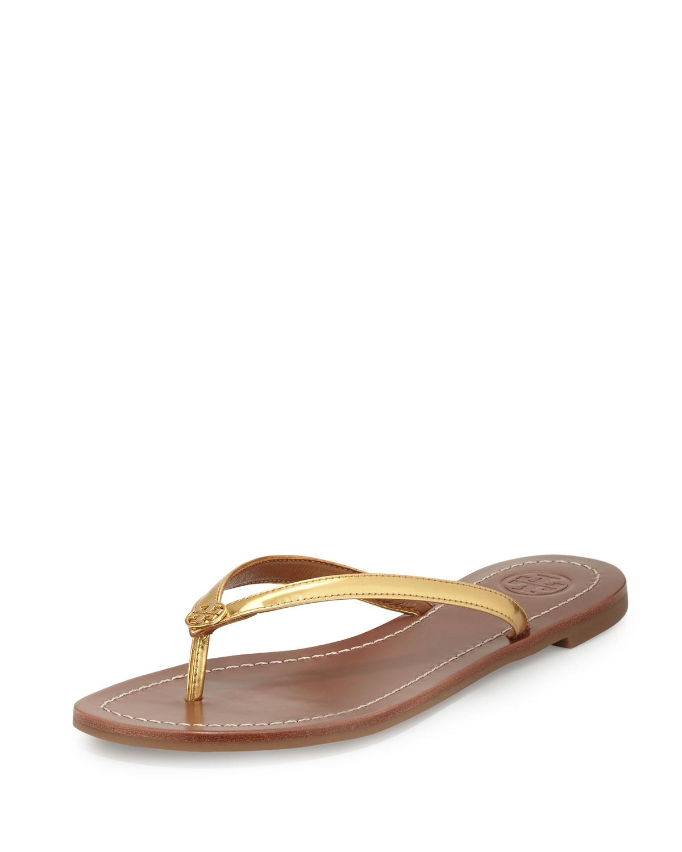 911c1e455710 Tory Burch Terra Metallic Thong Sandal