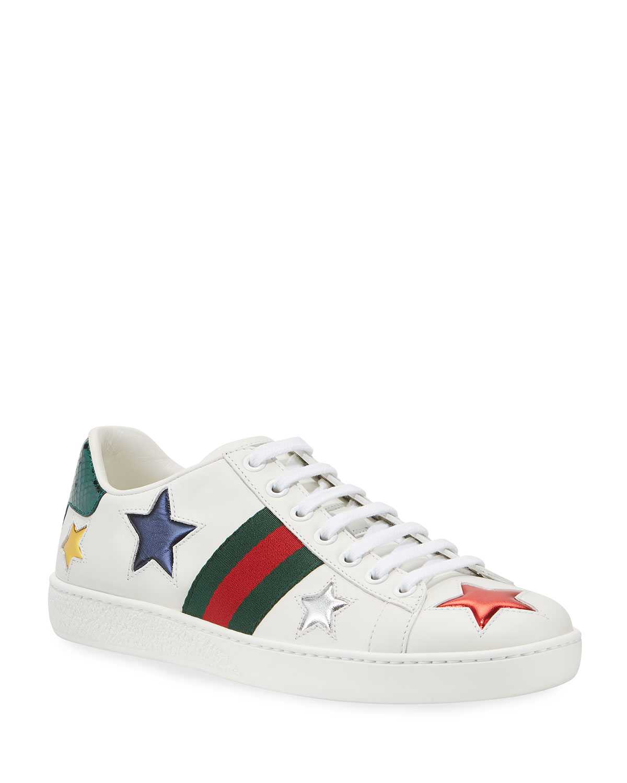 c07b15a7a83 Gucci New Ace 5mm Star Sneaker