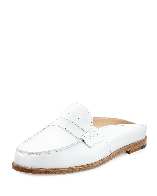 1e530432d7f Manolo Blahnik Ellen Leather Loafer Mule