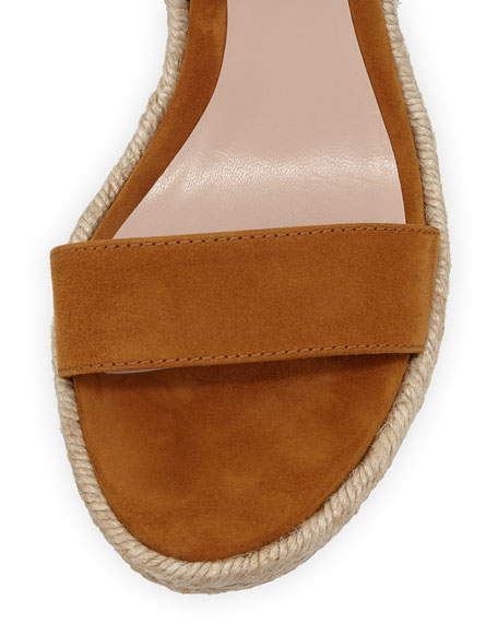 Stuart Weitzman Lexia Wedge Espadrille Sandals