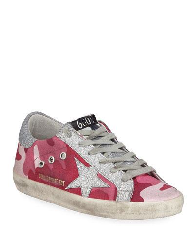 Superstar Glittered Camo Low-Top Sneakers