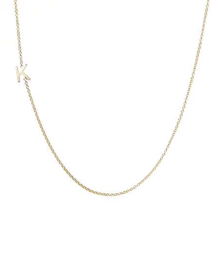 14k Yellow Gold Mini Letter Necklace