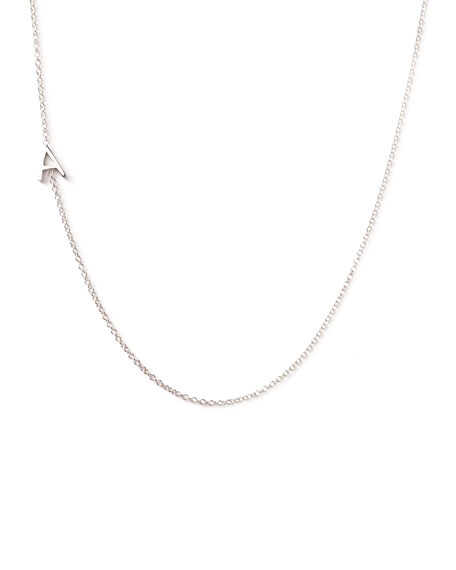 Maya brenner designs 14k white gold mini letter necklace aloadofball Image collections