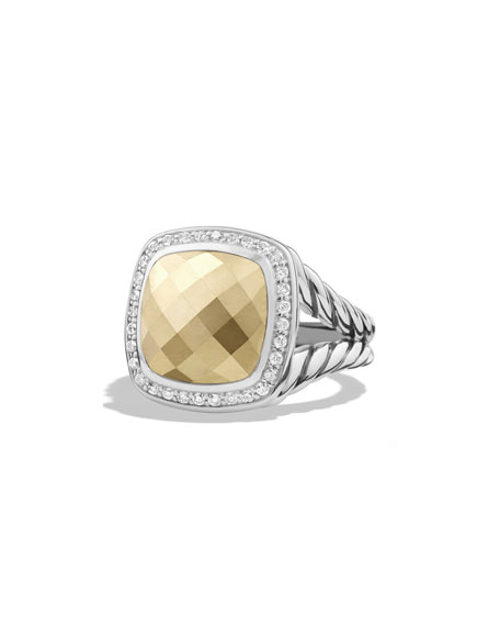 David Yurman Albion Ring with Gold Dome and Diamonds