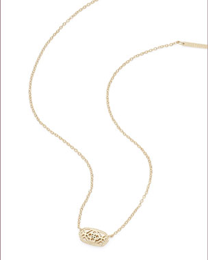Elisa Statement Necklace in Yellow Gold Plate