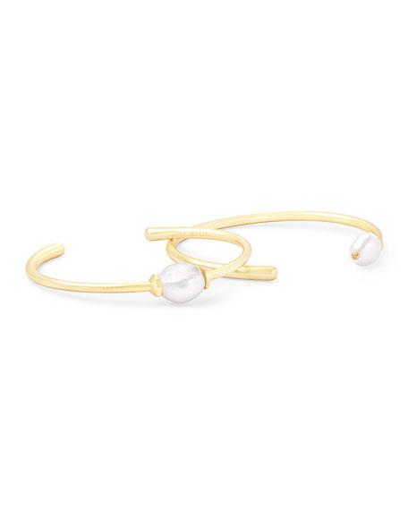Kendra Scott Amiya Pearl Bracelets, Set of 2