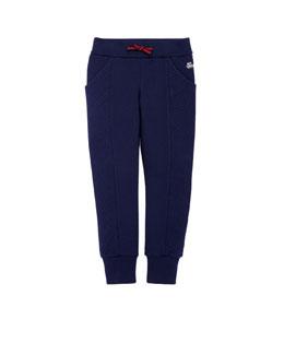 GUCCI Stretch-Cotton Track Pants, Blue, 4Y-12Y