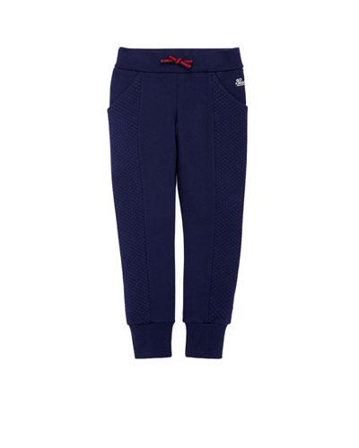 Stretch-Cotton Track Pants, Blue, 4Y-12Y